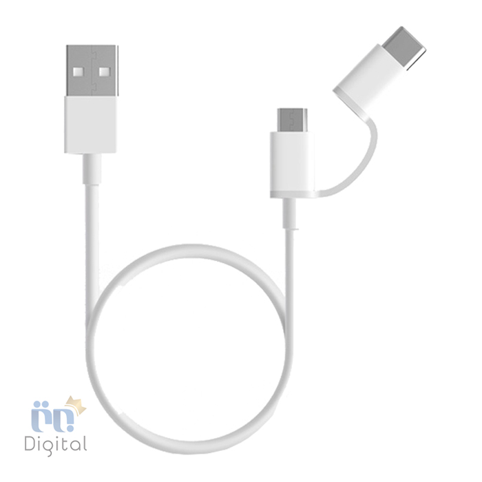 کابل شیائومی Mi USB Type-C Micro USB Combo Cable ۱۰۰cm لوازم جانبی کابل