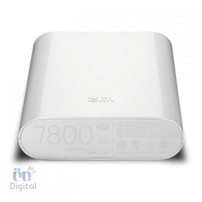 پاور بانک و مودم همراه ۴G شیائومی مدل ZMI MF855 ظرفیت ۷۸۰۰ میلی آمپر لوازم جانبی پاور بانک
