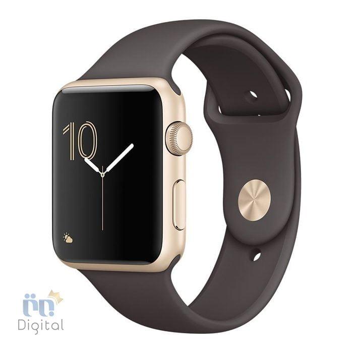 ساعت هوشمند اپل واچ سری ۲ مدل ۴۲mm Gold Aluminum Case with Cocoa Sport Band -MNPN2 ابزارهای پوشیدنی ساعت هوشمند