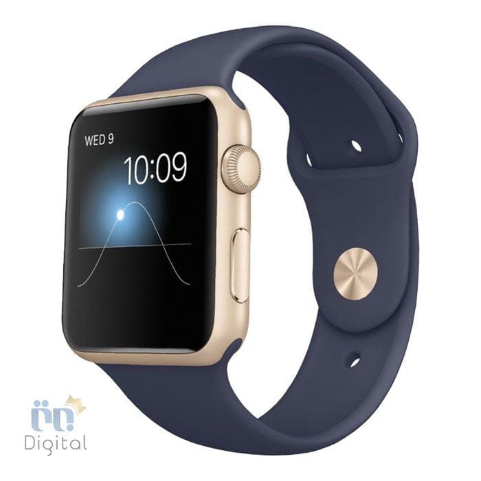 ساعت هوشمند اپل واچ سری ۲ مدل Sport Gold Aluminum Case With Midnight Blue Sport Band 42mm - MQ152 ابزارهای پوشیدنی ساعت هوشمند