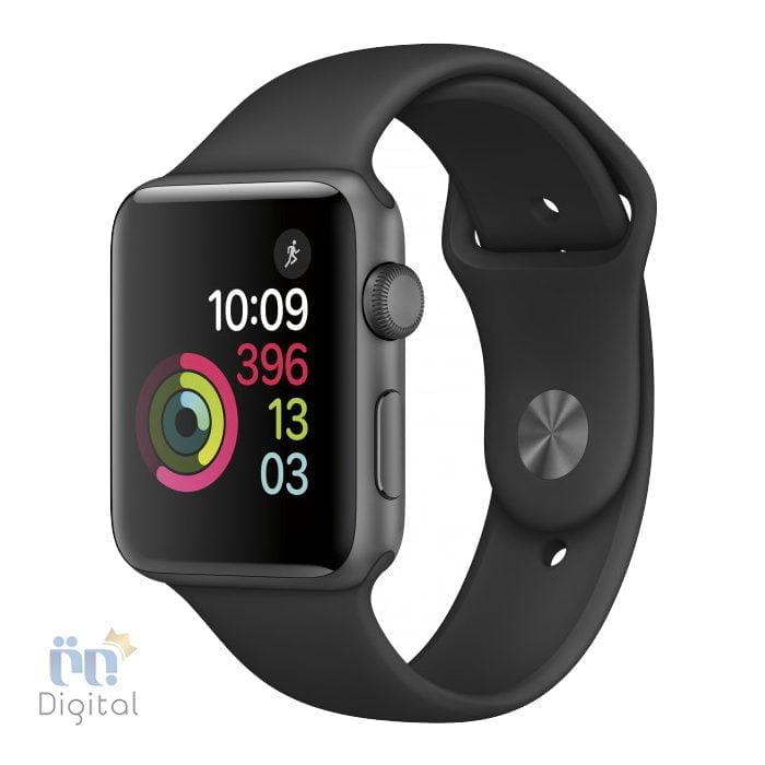 ساعت هوشمند اپل واچ سری ۲ مدل Space Gray Aluminum Case with Black Sport Band 42mm - MP062 ابزارهای پوشیدنی ساعت هوشمند