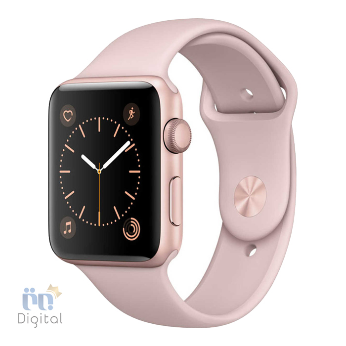 ساعت هوشمند اپل واچ سری ۲ مدل ۴۲mm Rose Gold Aluminum Case With Pink Sand Sport band -MQ142 ابزارهای پوشیدنی ساعت هوشمند