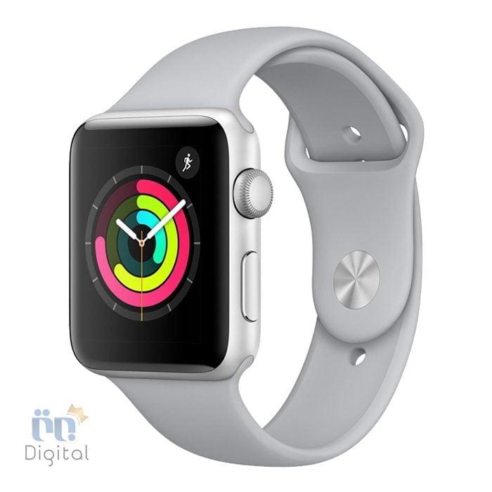 ساعت هوشمند اپل واچ سری ۳ مدل ۴۲mm Silver Aluminum Case with Fog Sport Band -MQL02 ابزارهای پوشیدنی ساعت هوشمند