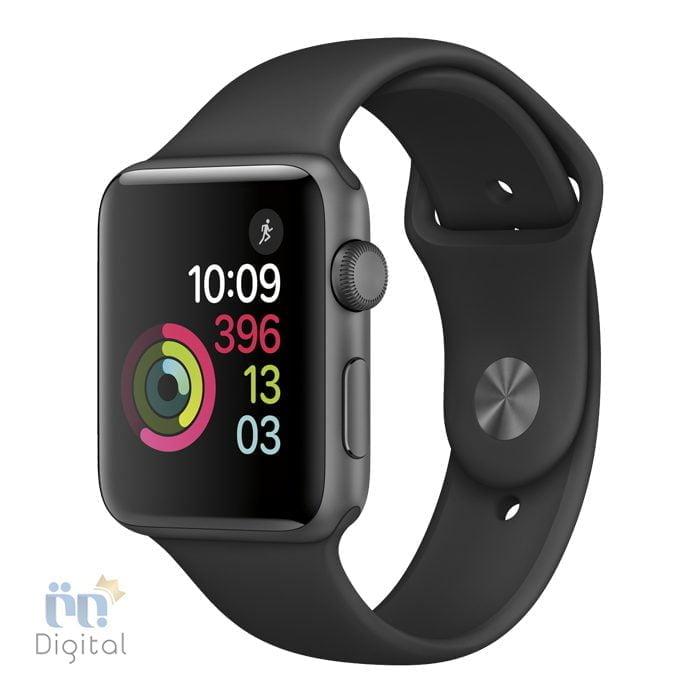 ساعت هوشمند اپل واچ سری ۳ مدل ۳۸mm Space Gray Aluminum Case with Black Sport Band -MQKV2 ابزارهای پوشیدنی ساعت هوشمند