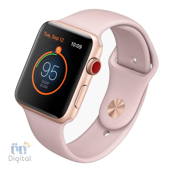 ساعت هوشمند اپل واچ سری ۳ مدل ۳۸mm Gold Aluminum Case with Pink Sand Sport Band -MQKW2 ابزارهای پوشیدنی ساعت هوشمند