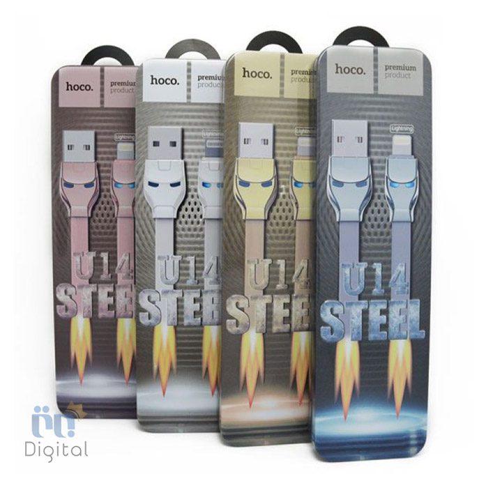کابل تبدیل USB به Lightning هوکو مدل U14 steel به طول ۱٫۲ متر لوازم جانبی کابل