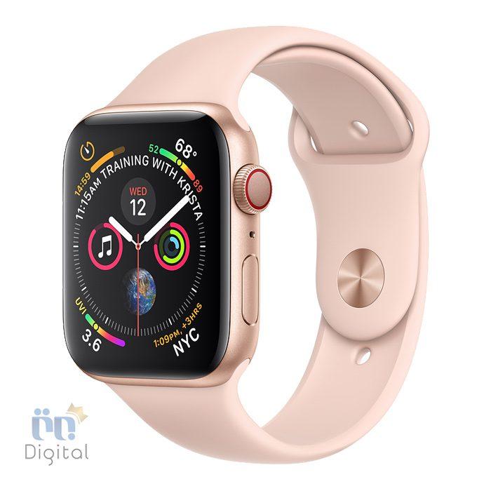 ساعت هوشمند اپل واچ سری ۴ مدل ۴۰mm Gold Aluminum Case with Pink Sand Sport Band ابزارهای پوشیدنی ساعت هوشمند