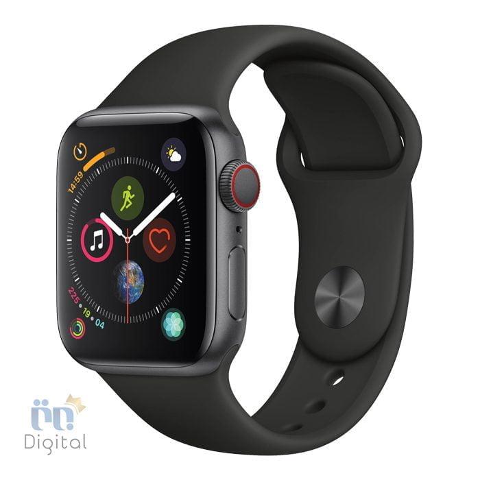 ساعت هوشمند اپل واچ سری ۴ مدل ۴۴mm Space Gray Aluminum Case with Black Sport Band ابزارهای پوشیدنی ساعت هوشمند