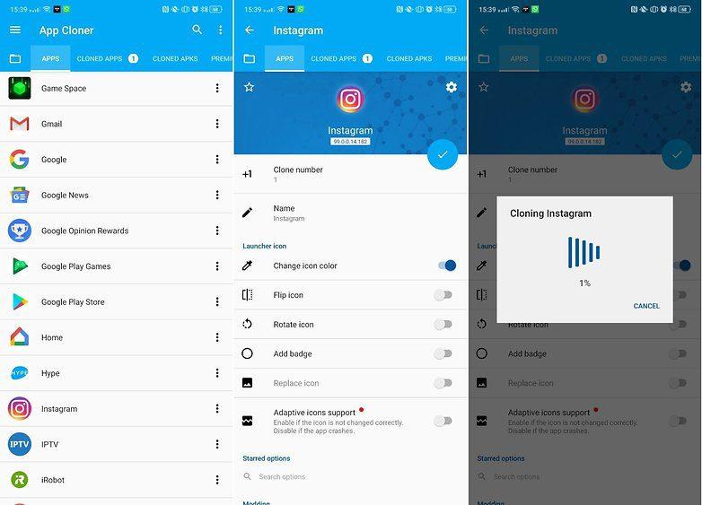 محدودیت ساخت اکانت اینستاگرام | App Cloner