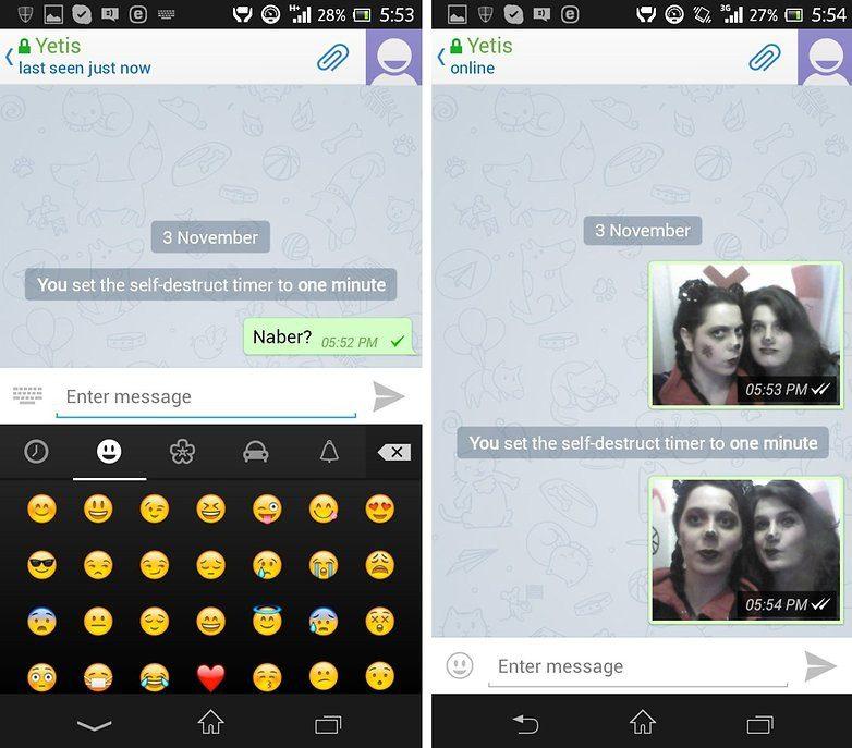 تعیین تایمر برای ارسال تصاویر و گفتوگوهای مخفی